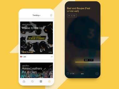 MM RAPS - App design
