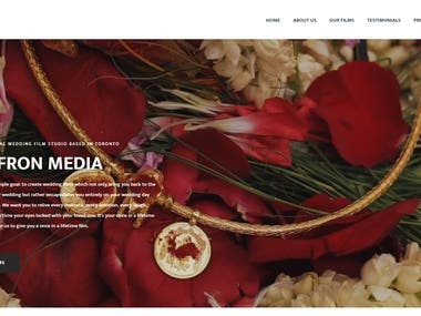 Wedding Film Recording Studio Website