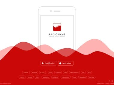 RadioWave - Simple music app