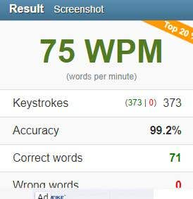 My Average Typing Test