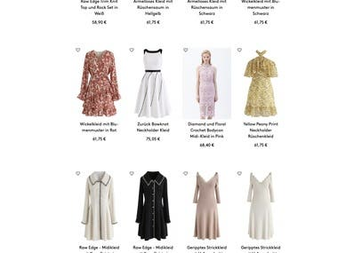 English - German Website Localization (Clothing)