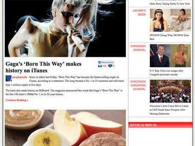 Wordpress Red Magazine Theme