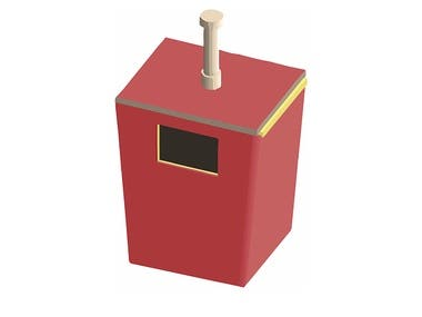 Design and Manufacture of Sanitary disposal box