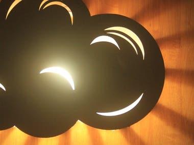 Lasercut Cloud Lamp