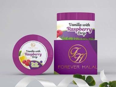 Label design for Cosmetic Product Range - Body Cream