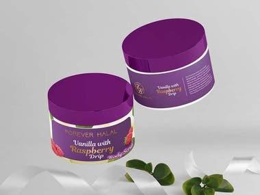 Label design for Cosmetic Product Range - Body Scrub