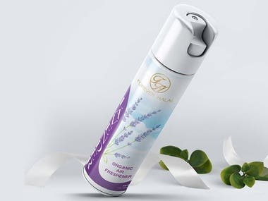 Label design for Cosmetic Product Range - Air Freshener