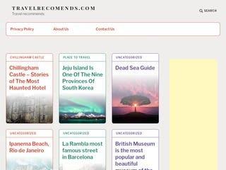 Made Travel Website - travelrecomends.com