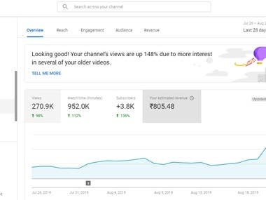 Youtube Channel and Videos Optimization