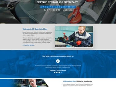 Allnoneautoglass Website Design