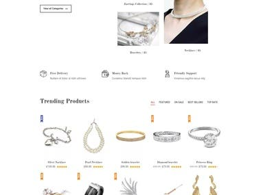 eCommerce Jewelry Shop#1
