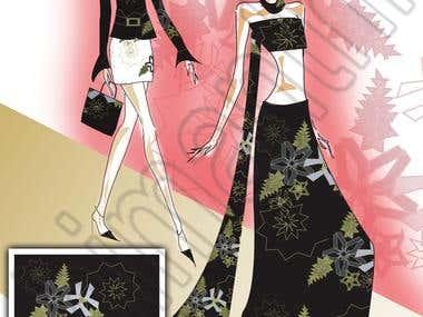 Fashion Illustration and Textile Design