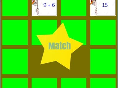 Math matching concentration game