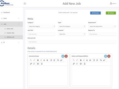 CMS For Job Listing & Applications Management