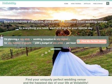 Wedding website(https://www.veilability.com.au)