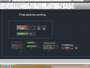 Autocad container packing