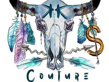Bull Skull Couture T-Shirt Design