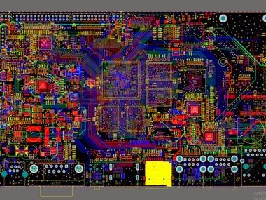 6-Layer PCB design (RK3399, DDR3, eMMC, eDP, LVDS,4G)
