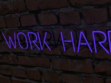 work hard logo