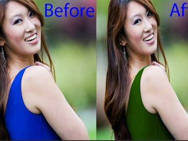 Color changing of dresses