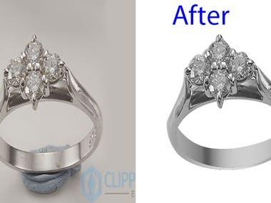 Background remove/ Jewelry retouching