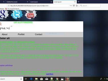 HTML,HTML5,CSS,WEB DESIGN,PHOTO EDIT