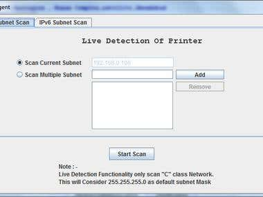 Live detection of printer
