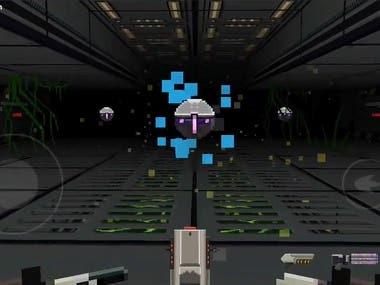 Retro shooter mobile game