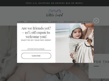 Baby gift store - https://shoplittleland.com/