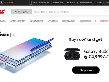 An eCommerce website - Entertainment, Electronic appliances