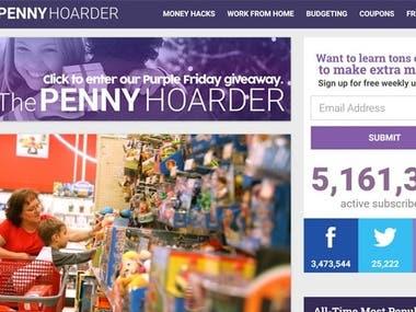 The Penny Hoarder – thepennyhoarder.com (wordpress website)