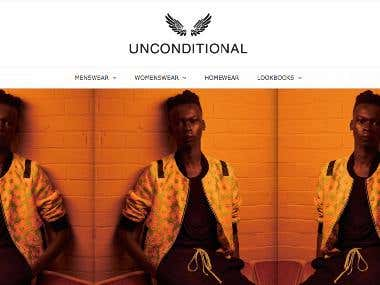 Shopify store - https://www.unconditional.uk.com/