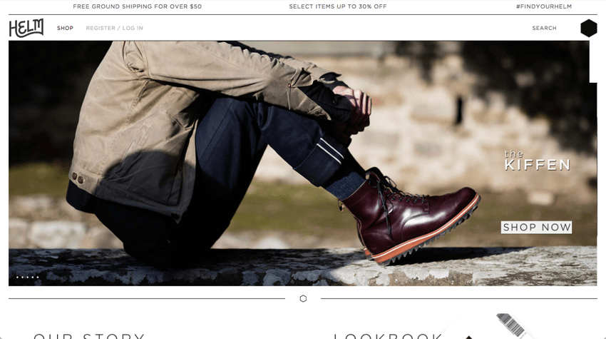 Shopify store - https://helmboots.com/