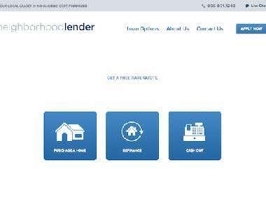 Laravel based website - http://neighborhoodlender.com/
