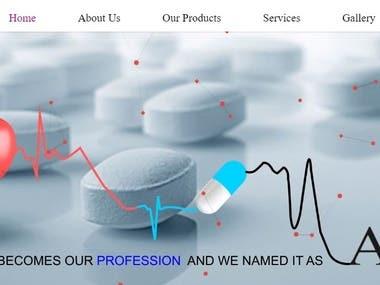 Website for Pharma Company