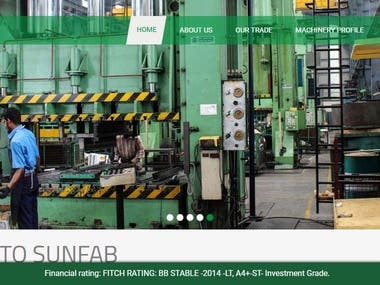Website for Manufacturing company