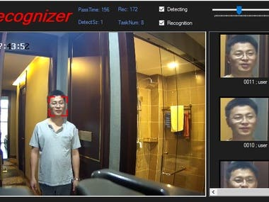 FaceDetection and Recognition in android