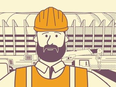 """Promo video for construction company """"Nerudprivoz"""""""