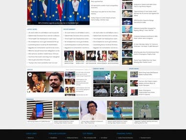Website Designing for Newslatter