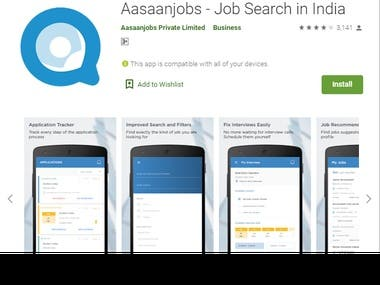 Aasaanjobs - Job Search in India Android App