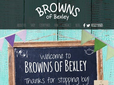 Browns of Bexley - Wordpress Site
