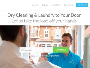 Dry Cleaning & Laundry - Laravel Website