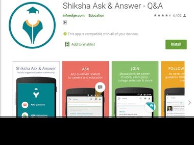 Shiksha Ask & Answer - Android App