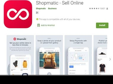 Shopmatic - Sell Online - Android App