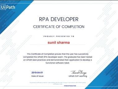 UiPath Advance Certificate