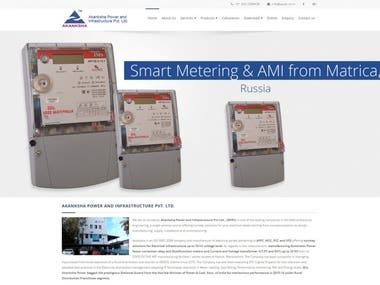 Website design for APIPL- Electrical Company
