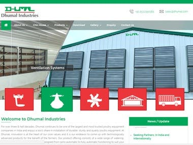 Website Development for Dhumal Industries