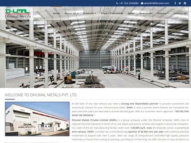 Website Design for Dhumal Metals