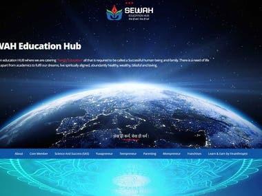 Website Design & Development for SEWAH - Education Sector