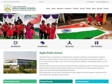 Website Design for Apple Public School